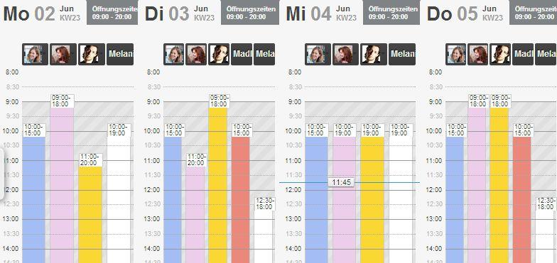 Kalenderspalten verkleinern