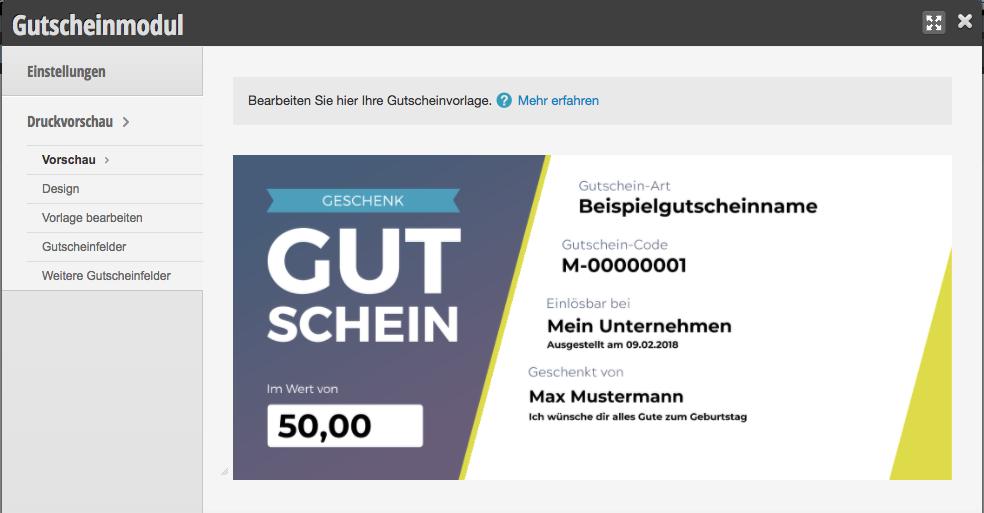 Gutscheine: generelle PDF-Vorlage erstellen | Handbuch